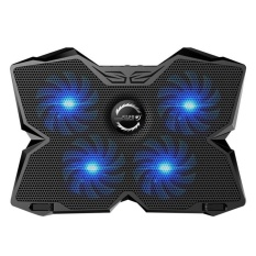 Womdee Kobwa Laptop Cooler Cooling Pad Stand Ultra-Quiet Gaming Notebook Cooler For 15.6-17 Inch Laptops With 1200 Rpm 4 Fans, Dual Usb Port And Multi Tilt Angle Option.(blue) - Intl By Womdee.
