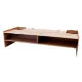 Price Compare Wood Computer Monitor Riser Over Keyboard Stand Desktop Organizer Stand Light Brown