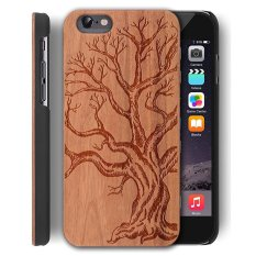 Sale Wooden Case For Apple Iphone 5 5S Se 4 Inch Wood Smartphone Case Yuanqian Unique Handmade Natural Solid Wood Engraving Wave Case Wood Wave Dead Tree Intl Oem On China