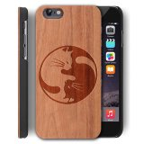 Low Price Wooden Case For Apple Iphone 6 Iphone 6S 4 7 Inch Yuanqian Non Slip Slim Matte Wood Tactile Grip Rubber Bumper Natural Wood Layer Back Cover Premium Smooth Wooden Shell Cat 1 Intl