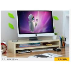 Buy Wooden Lcd Monitor Ergonomic Stand 2 Levels Beige Oem Online