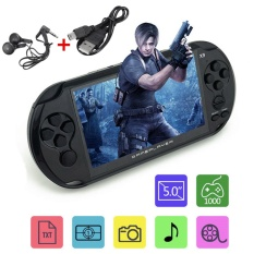 Lowest Price X9 Rechargeable 5 Large Screen 8G Handheld Retro Game Console Video Mp3 Player Black Intl