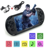 Discount X9 Rechargeable 5 Large Screen 8G Handheld Retro Game Console Video Mp3 Player Black Intl