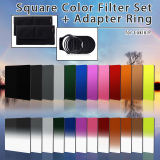 Discounted Xcsource Adapter Ring And Square Filter For Cokin 24 Piece Set Multicolor