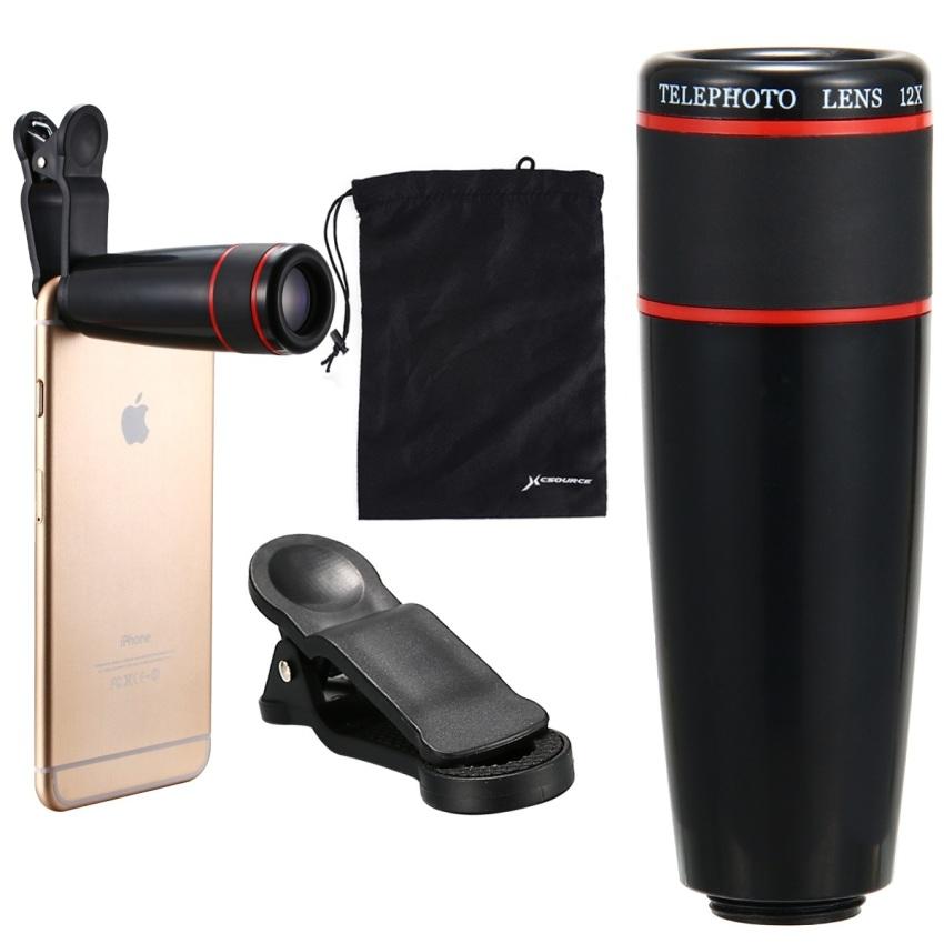 Buy Xcsource Universal 12X Telephoto Zoom Camera Lens Clip For Smartphones Dc602 On Hong Kong Sar China