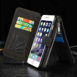 Cheaper Xhleia 2 In 1 Detachable Assembled Wallet Flip Style Retro Leather Card Photo Slot Holder Protective Cover Case For Apple Iphone 6 Plus 6S Plus 5 5Inch Black Intl