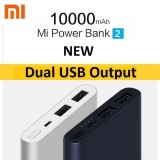 Price Xiaomi 10000Mah Gen 2 New Dual Usb Powerbank External Battery Charger On Singapore