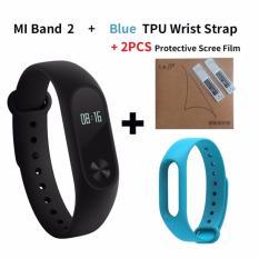 Purchase Xiaomi Mi Band 2 Smart Bluetooth Wristband Blue Replacement Strip (Bundle) Online