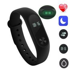 Xiaomi Mi Band 2 Wrist Waterproof Bracelet Smart Watch Heart Rate Oled Original Intl Best Buy