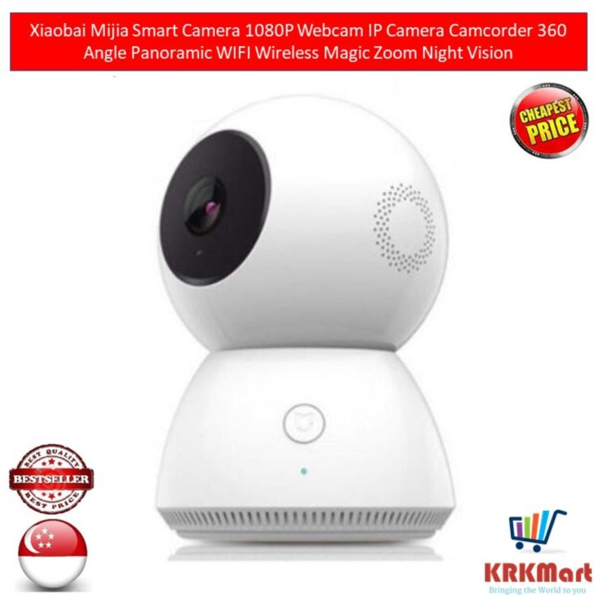 Discount Xiaomi Mijia Xiaobai Smart Camera 1080P Webcam Ip Camera Camcorder 360 Angle Panoramic Wifi Wireless Magic Zoom Night Vision Xiaomi On Singapore