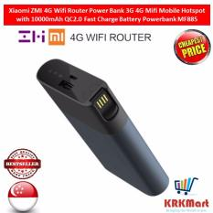 Deals For Xiaomi Zmi 4G Wifi Router Power Bank 3G 4G Mifi Mobile Hotspot With 10000Mah Qc2 Fast Charge Battery Powerbank Mf885