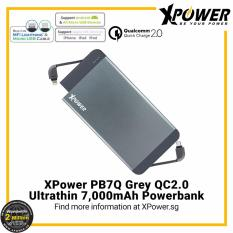 Recent Xpower Pb7Q Qualcomm Quick Charge 2 Powerbank 7000Mah With Dual Built In Mfi Lightning Cable And Micro Usb Cable Black
