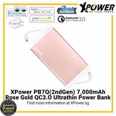 Sale Xpower Pb7Q2G 7000Mah Qualcomm Quick Charge 3 Powerbank Rose Gold On Singapore