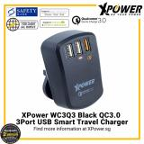 Who Sells Xpower Wc3Q3 Qualcomm Quick Charge 3 3 Port Smart Travel Charger With Assorted International Plug Included Black The Cheapest