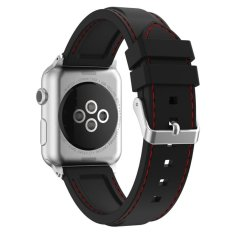 Buy Xumu Apple Watch Series 1 Series 2 42Mm Soft Silicone Line Stitching Sport Band For Nike Apple Watch Series 1 Series 2 Iwatch Sport Edition Replacement Strap Wristband Black Red Intl Xxf Cheap