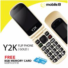 Compare Price Y2K 3G Easyflip Senior Phone Gold Free 8 Gb Memory Card Gold 500Mb On Singapore