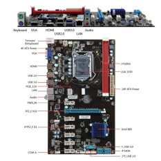 Ybc 6 Gpu H81 Mining Motherboard Pci E Extender Riser Card For Btc Eth Rig Ethereum Intl Coupon