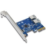 Deals For Ybc Pci Expansion Card To 2 Ports Usb 3 Hub Riser Cards For Bitcoin Mining Device Intl