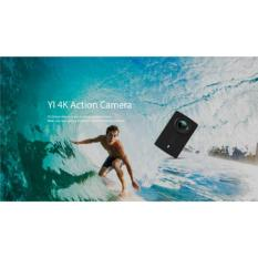 YI 4K Action Camera (Black) with Waterproof Case (Free Screen Protector, Frame