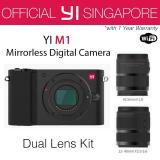 Sale Yi M1 Mirrorless Digital Camera With 12 40Mm F3 5 5 6 Lens 42 5Mm F1 8 Lens Storm Black International Edition Online On Singapore