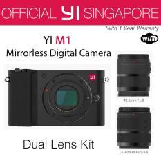 Sale Yi M1 Mirrorless Digital Camera With 12 40Mm F3 5 5 6 Lens 42 5Mm F1 8 Lens Storm Black International Edition Singapore