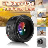 Discount Yongnuo Yn 50Mm F 1 8 Large Aperture Auto Focus Lens For Canon Eos Camera Lf651 Yongnuo