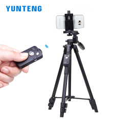 Get Cheap Yunteng Light Weight Aluminum Tripod With Bluetooth Remote For Smartphones And Dslr Camera Black Intl