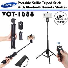 Sale Yunteng Vct 1688 2 In 1 Portable Mini Selfie Monopod And Tripod With Bluetooth Remote Controller Yunteng Wholesaler