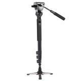 Promo Yunteng Vct 588 Extendable Telescoping Monopod With Detachable Tripod Stand Base Fluid Drag Head For Dslr Camera Camcorder Intl