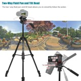 Great Deal Yunteng Vct 691 Professional Portable Aluminum Alloy Video Tripod 4 Section Camera Tripod With Fluid Pan Tilt Head For Can Intl