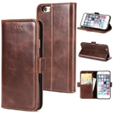 Sale Zhiyue Filp Crazy Horse Pattern Double Fold Flip Leather Case For Apple Iphone 5 5S Intl Oem Cheap