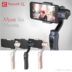 Great Deal Zhiyun Smooth Q Smartphone Gimbal Jet Black With Free Gopro Adapter And Local Service Centre Warranty