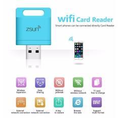 Zsun Wireless Wifi Micro Card Reader (Blue)