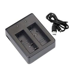 weisizhong Dual Charger For SJ Cam SJ4000 WiFi SJ5000 SJ6000 SJ7000 Action Camera(Black)