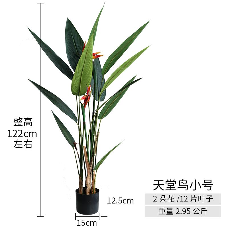 ROAMAN Mom Scandinavian-Model Big Plant Landing Bonsaii G·Bird Bird of Paradise Snnei 58 Decoration