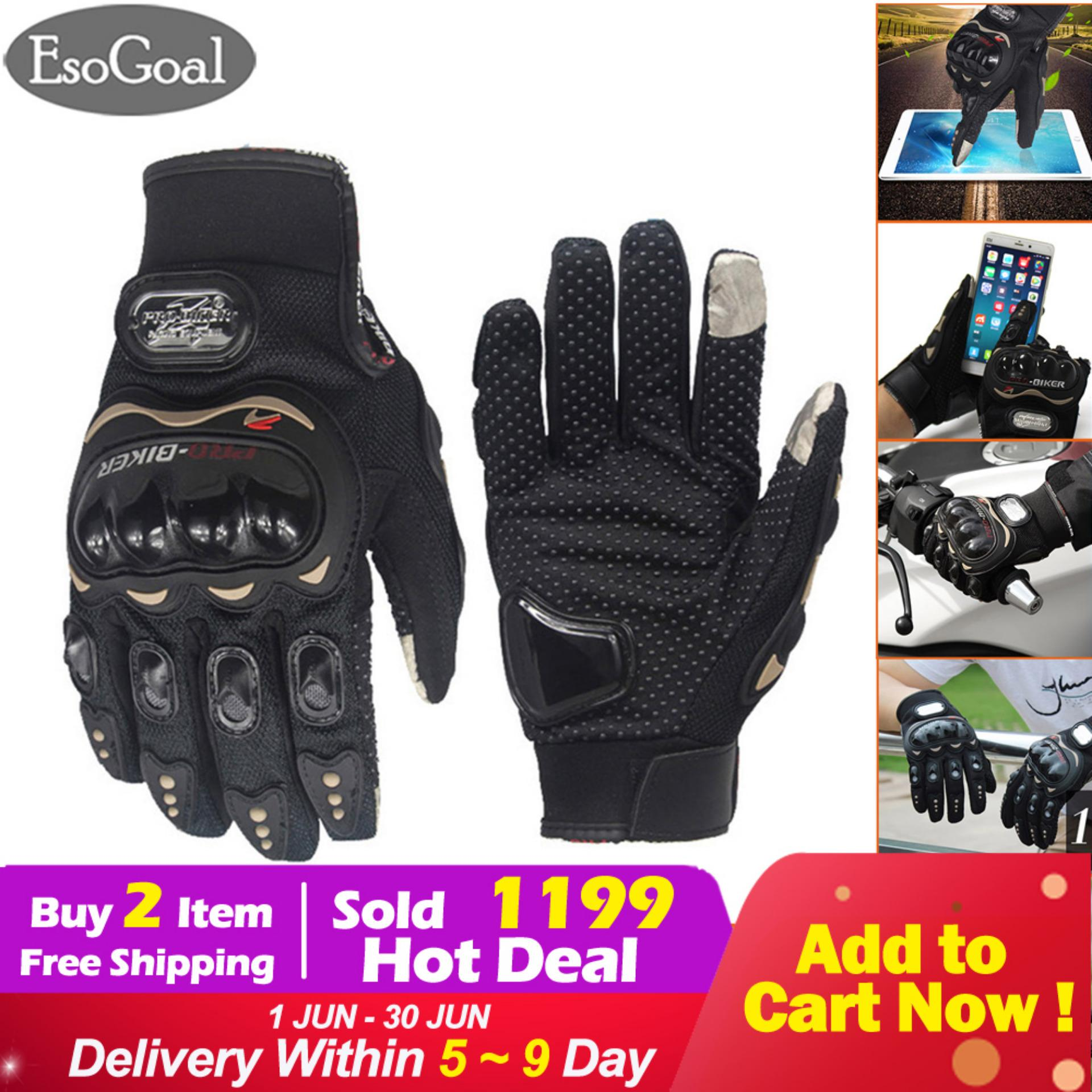 2d8ad409f4a EsoGoal Motorcycle Riding Gloves Carbon Fiber Bike Motorbike Racing Riding  Finger Protective Gloves Outdoor Cycling Hand