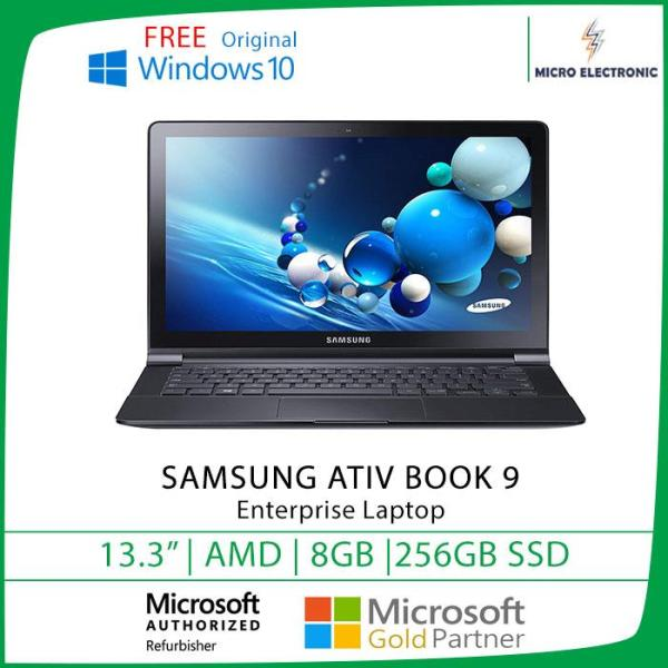 Samsung ATIV Book 9 Lite NP915S3G-K01US 13.3  AMD Quad-Core 1.4 GHz  8GB RAM 256GB SSD  Win10 Refurbished