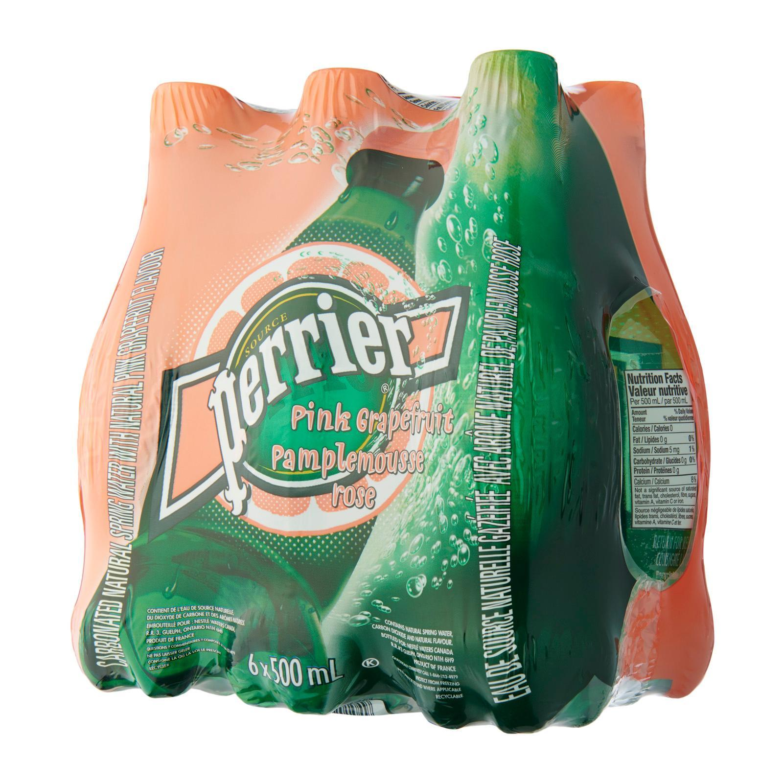 Perrier Pink Grapefruit Sparkling Natural Mineral Water 10s Fridge Pack