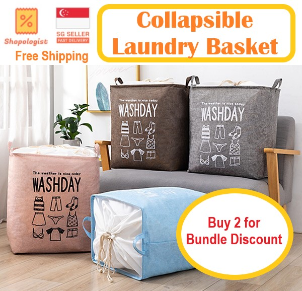 Collapsible Laundry Basket, Storage & Organizer For Kitchen/bathroom/service Yard Easy Storage * Free Shipping*.