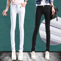 Compare 2016 Candy Color Women Ladies Stretch Pencil Pants Casual Slim Fit Denim Jean Skinny Trousers Prices