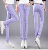 2016 Cotton Women Stretch Pencil Pants Casual Slim Fit Jean Ladies Trousers Oem Cheap On China