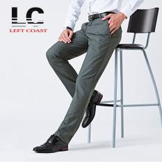 Best Reviews Of 2016 Straight Men Suit Pants Work Office Formal Black Pants Casual Mens Business Trousers