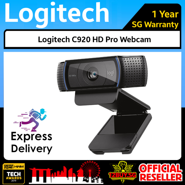 Logitech C920 HD Pro Webcam with stereo audio 12BUY.SG 3PM.SG Express Delivery