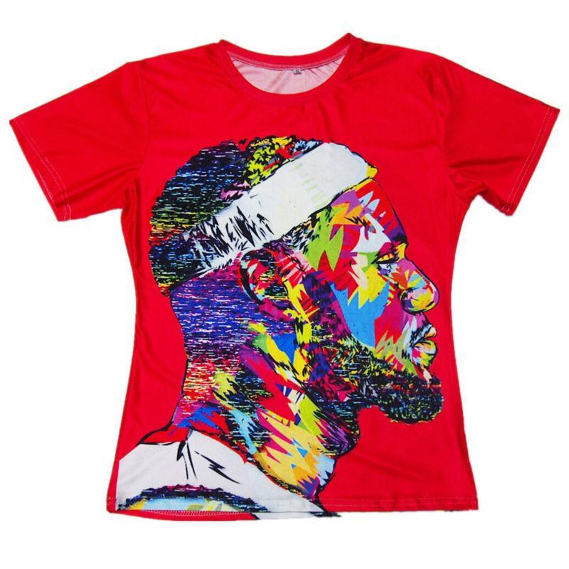 648c4e1b8056 New Fashion 3D Printed T-shirts Men LeBron James Cool Pattern Tie Dye Tee  Shirts