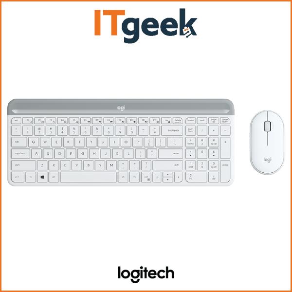 Logitech MK470 Wireless Slim Combo (White) Singapore