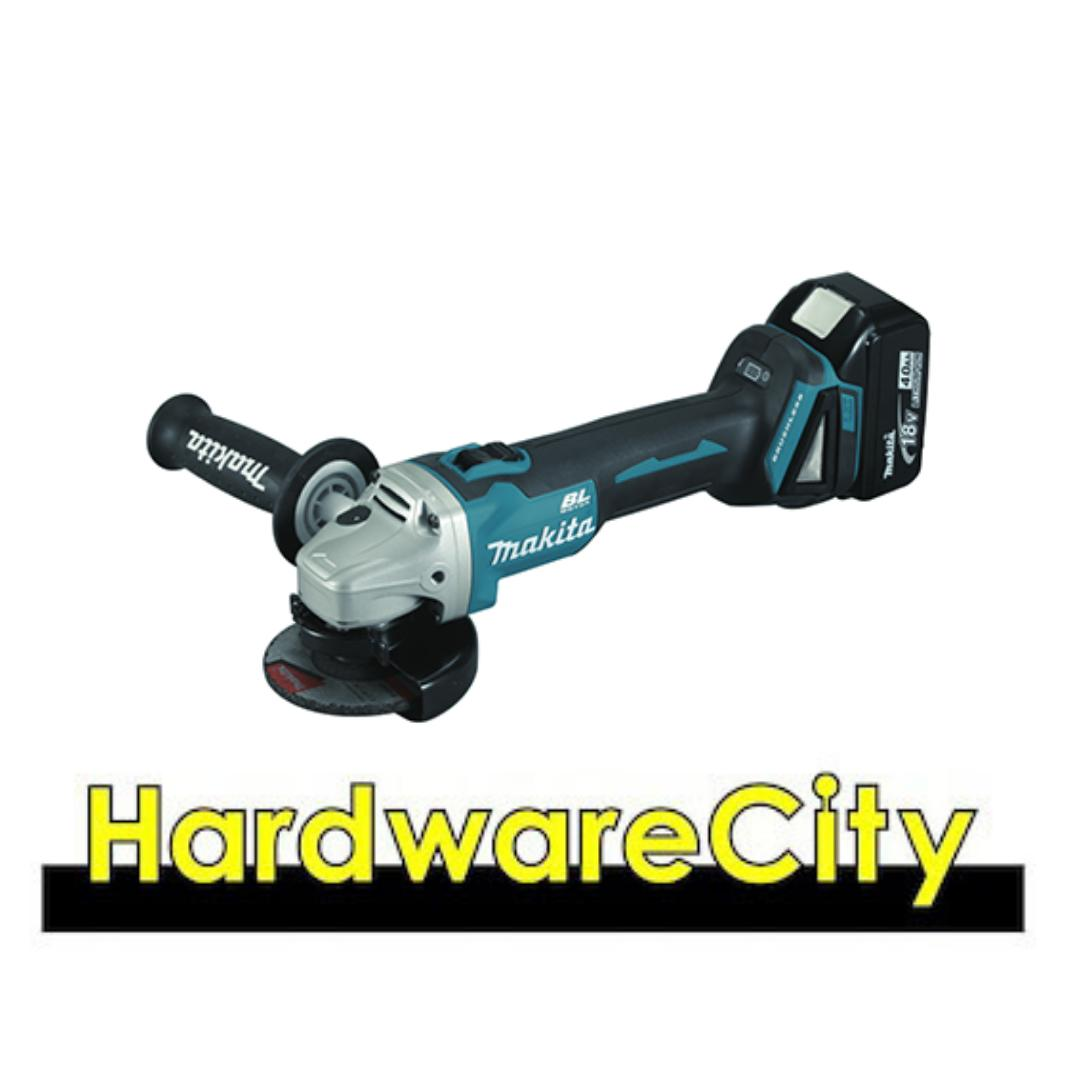 Makita DGA406RFE Cordless Angle Grinder 18V (1 x Rapid Charger + 2 x 3.0ah Battery) Brushless [DGA406RFE]