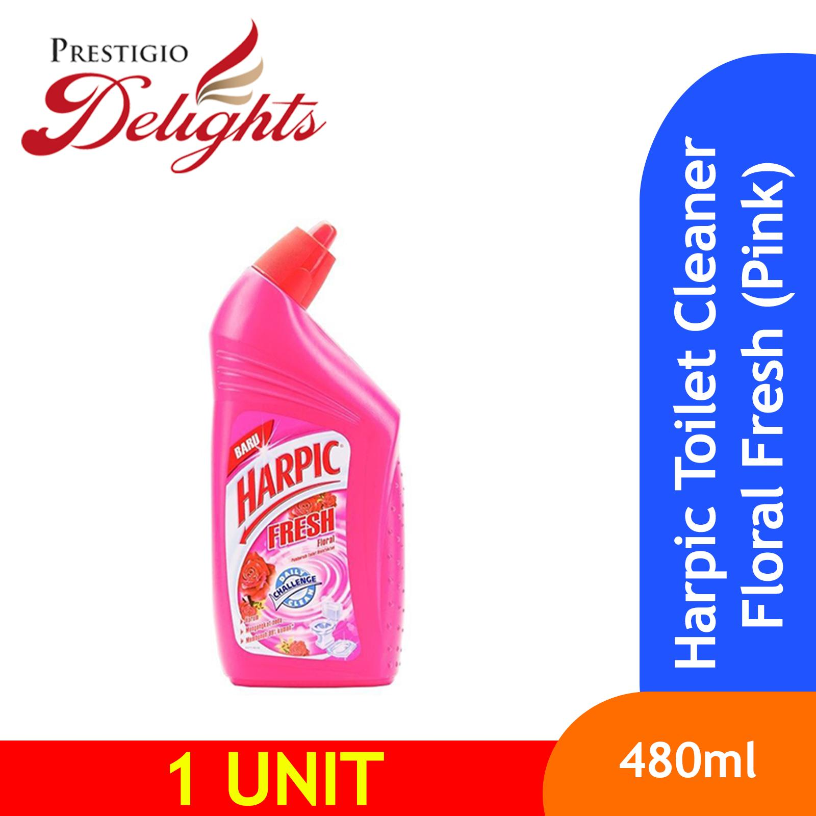 Harpic Toilet Cleaner Floral Fresh (pink) 450ml By Prestigio Delights.