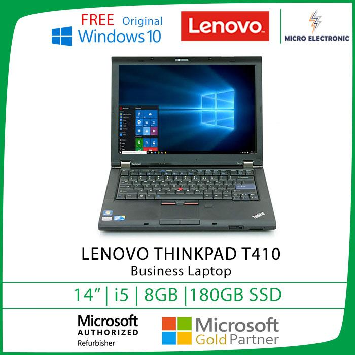 Lenovo Thinkpad T410 Business Laptop 14.1 HD Intel Core I5 8GB 180GB SSD Windows 10 (Refurbished)