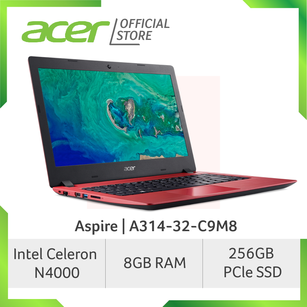 Acer Aspire A314-32-C9M8(Red) Laptop with 8GB RAM and 256GB SSD Storage