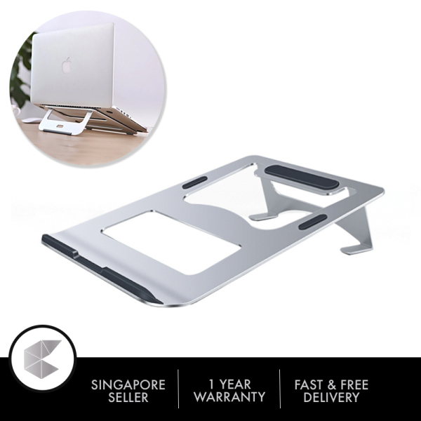 Singapore Ready Stock Laptop Stand for Desk, Laptop Holder Ergonomic Portable Computer Stand with Heat-vent to Elevate Laptop, Vertical Laptop Stand Laptop Mount Compatible with MacBook, Air, Pro, All Laptops